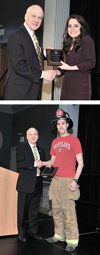 Dr. Milke presenting awards