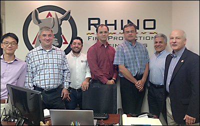 Group photo at Rhino's offices.